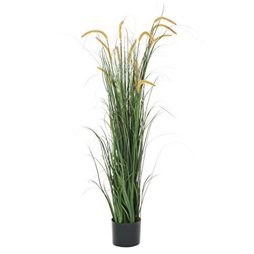 Festnight Kunstgras mit Rohrkolben Kunstpflanze Gras im Topf Tischdeko 160 cm