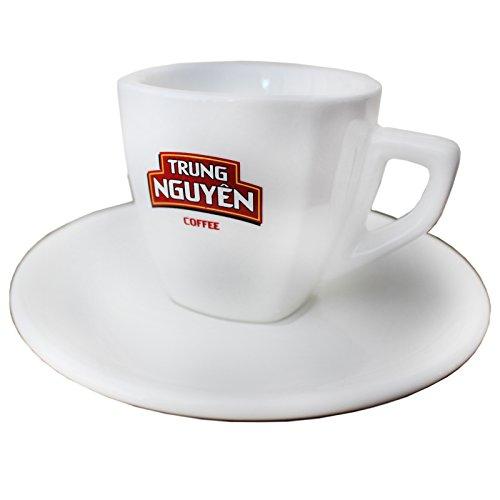 Trung Nguyen Espresso Tasse mit Untertasse weiss