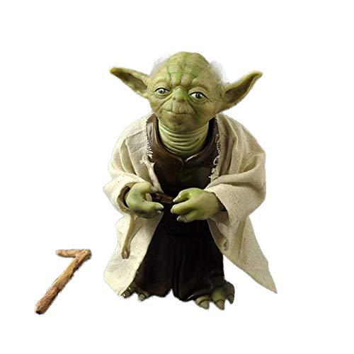DUDDP Anime-Modelle, Anime Charakter Modell Star Wars Yoda Master Simulation Haut Sammlung Puppe Jungen Spielzeug PVC Modell Urlaub Geschenk Dekoration 18 cm Anime-Spielzeug