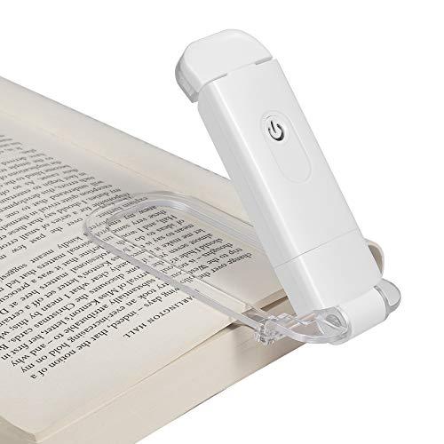 DEWENWILS Lampe de lecture à pince rechargeable Ambre pour la lecture au lit, Blocage de lumière bleue, 4 niveaux de luminosité réglables, lampe de livre LED pour enfants et livres