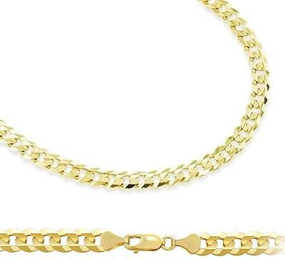 14k Solid Yellow Gold Cuban Curb Link Bracelet 3.2mm 7
