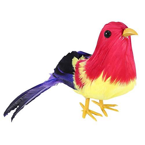 Vogel Decor, hoog gesimuleerd schuim landschap dier vogel gazon beeldje handgemaakte tuindecoratie