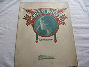 MAIDENS PRAYER BADARZEWSKA 1905 SHEET MUSIC FOLDER 401 SHEET MUSIC