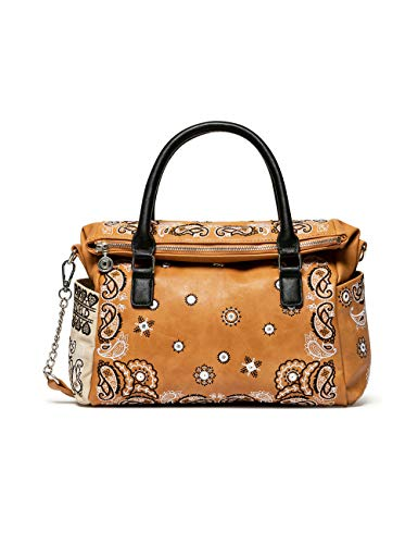Desigual Bols_Bandana Explosive Loverty - Bolso bandolera para mujer, color marrón