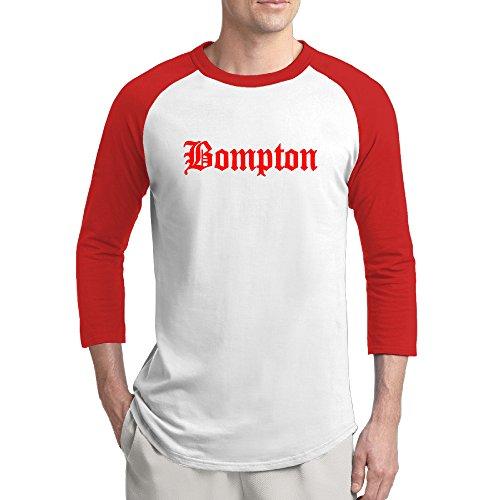 JUYHJYUHF Men's 3/4 Sleeve Bompton YG Keenon Daequan Raglan Shirts Funny Baseball Shirts