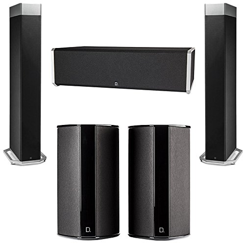 For Sale! Definitive Technology 5.0 System with 2 BP9080X Tower Speakers, 1 CS9040 Center Channel Sp...