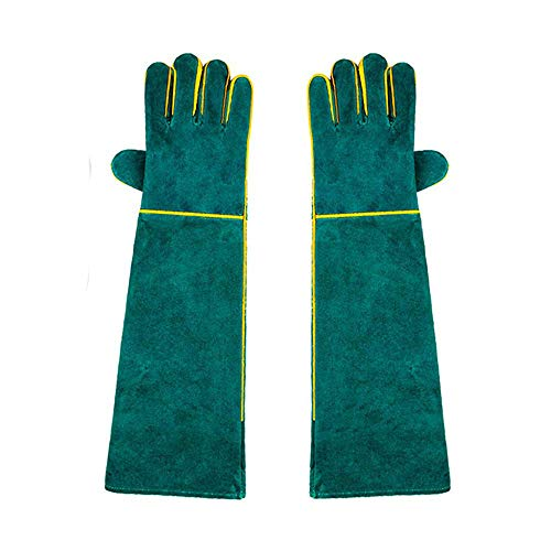 Womdee Animal Handling Gloves Bite Proof 23Inch, Thickened Cowhide Dog,Cat Scratch,Bird Handling Falcon Gloves Grabbing,Reptile Squirrel Snake Bite