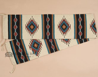 Southwest Native American Style Table Runner -100% Hand Woven Wool -10