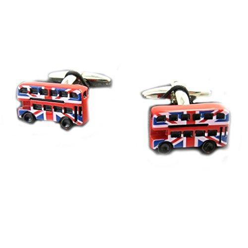 Les Trésors De Lily M6437 - Boutons de Manchettes 'So British' bus anglais