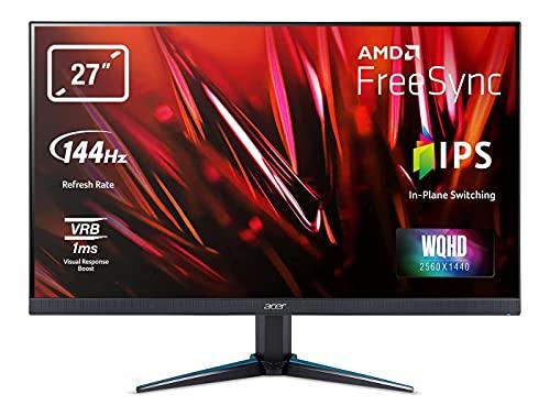 Acer VG270UP - Monitor para Videojuegos (27', WQHD, 144 Hz DP/HDMI2, 70 Hz HDMI1, 1 ms (VRB), HDMI 2.0, HDMI 1.4, DP 1.2a, HDMI/DP FreeSync)