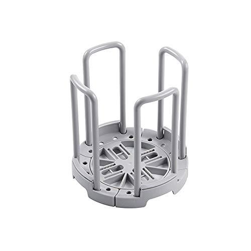 UNE Rack de Stockage de Vidange Assiette Baguettes Support De Rangement pour La Vaisselle Panier De Vidange Séchoir en Plastique (Gris)