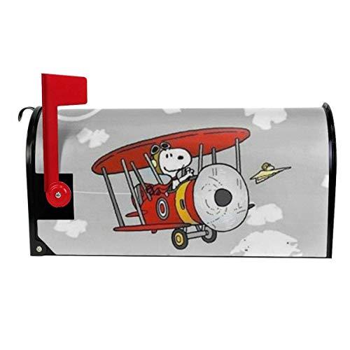 Sumptuous Lustige Briefkasten-Abdeckung, Snoopy Driving Glider Print, magnetisch, Briefkasten-Abdeckung, Haus- und Gartendekoration