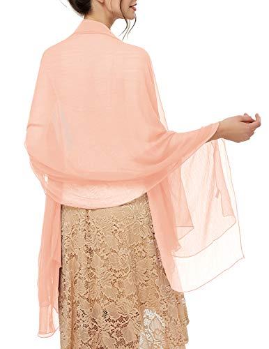 bridesmay Damen Strand Scarves Sonnenschutz Schal Sommer Tuch Stola für Kleider in 29 Farben Pink-2