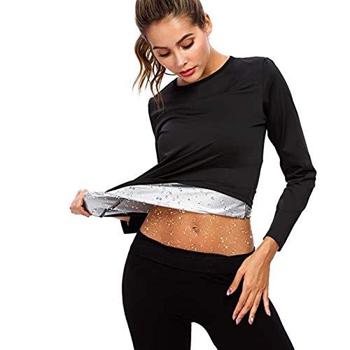 Damska Odzież Sauny Bluza, Neoprenowa Odzież Sportowa, Urządzenie do Modelowania Sylwetki z Długim Rękawem do Sportowego Potu Fitness Lekki Wygodny Szybkoschnący Solidny Trwały