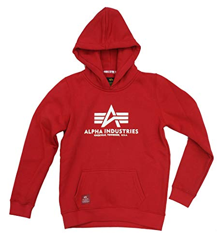 ALPHA INDUSTRIES Kinder Basic Hoodie Speed red (152)