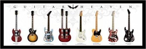 1art1 48480 gitaar - gitaar heaven midi-poster 91 x 30 cm