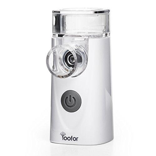Portátil Inhalador Nebulizador de Malla Vibrante para Adultos y Niños de Yoofor, con Boquilla y Máscara, USB recargable Dispositivo Casero Certificado