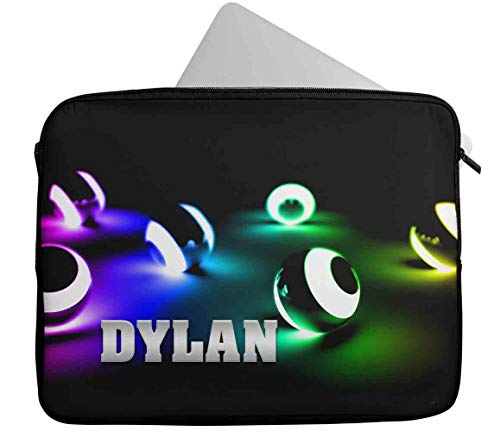 Personalised Any Name Generic Design Laptop Case Sleeve Tablet Bag Chromebook Gift 33 (9-10 inch)