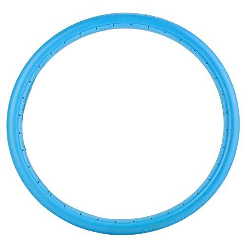 Pwshymi Neumático de Tubo sólido de 26 Pulgadas 700x23C Neumático a Prueba de explosiones Neumático de Bicicleta de Silicona no Inflable para Bicicleta de Carretera MTB(700 * 23 Azul)