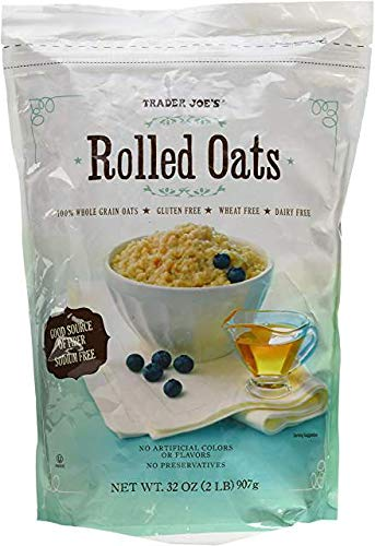 Trader Joe's Rolled Oats 100 % Whole Grain Oats Gluten Free 32 oz Bag
