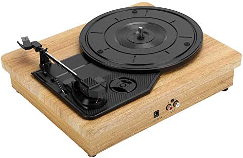 TYX-SS Vinyl Record Player 33/45/78 RPM Turntable Support 7 10 12 Vinyl Records Film Records Dual for Audio Signal Output for RCA R/L Output USB