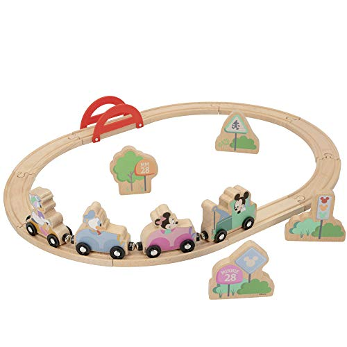 WOOMAX - Circuito tren madera - Juguetes niños 2 años Juguetes bebe 18 meses - Juguetes educativos para niños Preescolar Infantil - Circuito vias tren madera