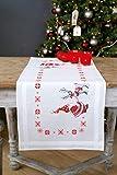 Vervaco Cross Stitch Table Runner Kit Christmas Elves 16' x 40'