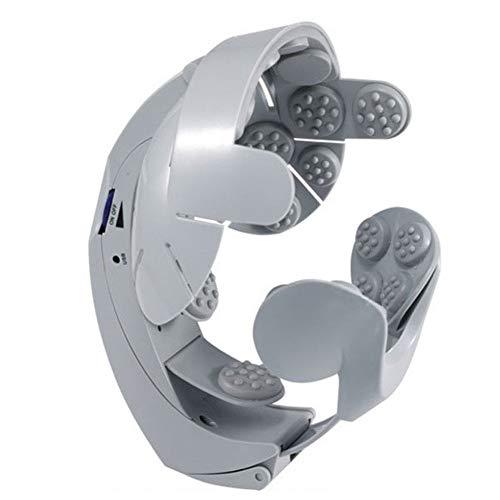 Masajeador de cabeza eléctrico, tamaño Cabeza ajustable Ajustable Cabeza de acupuntura cerebral...