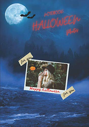 NOTEBOOK HALLOWEEN PHOTOS: note book for halloween photos to fill out | 7×10 inches , 50 pages | Ideal gift to share all our halloween moments with ... fiance and other people who mean a lot to us.
