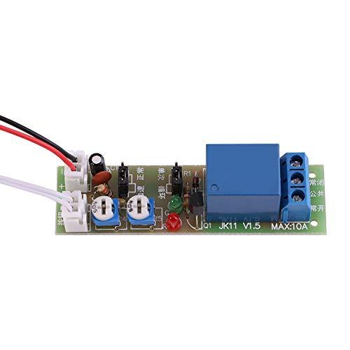 DC 5V/12V/24V Temporizador de ciclo infinito Retardo de encendido/apagado Relé 0-15min/0-60min Interruptor de relé de tiempo de retardo para equipo de funcionamiento del temporizador(DC 24V 0-