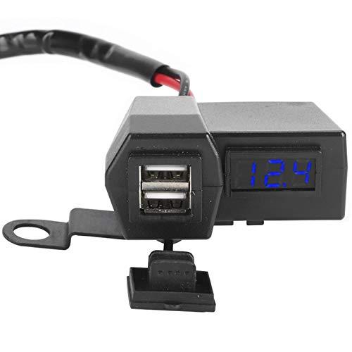 Doble USB con Display Cargador Socket Professional ABS(Blu-ray)
