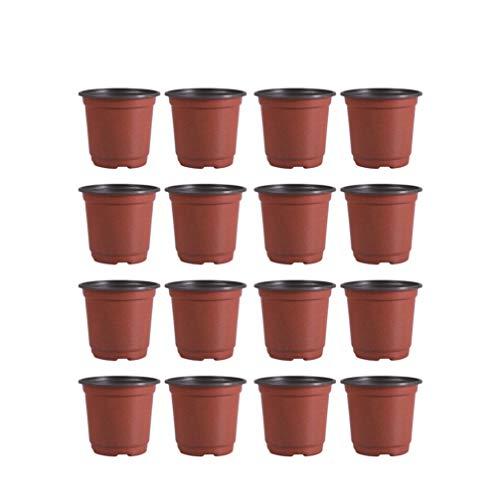 DOITOOL 50 Pezzi Vasi di plastica per Piante per La Semina di 12 cm Vasi da Fiori Contenitore per Piante da Vaso per Semi (Diametro 120mm)