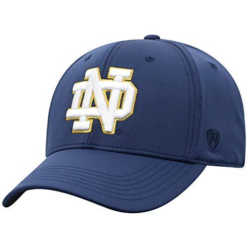 Top of the World Herren Mütze NCAA One Fit Phenom Team Icon, Herren, NCAA Men's One Fit Phenom Team Icon Hat, Notre Dame Fighting Irish Navy, Einstellbar