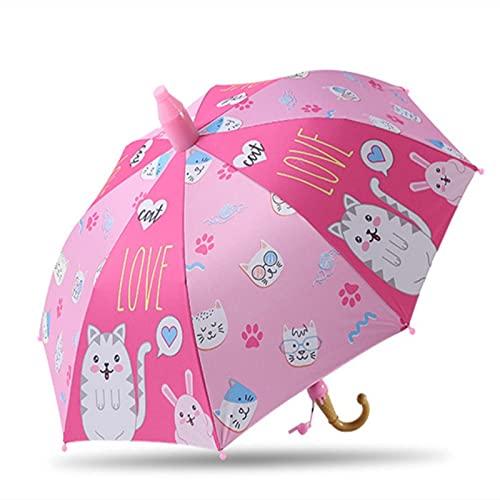 Paraguas Niños Preciosa Lluvia Sombrillas C Oon Paraguas Niños Rainbow Paraguas Semi Automático, E