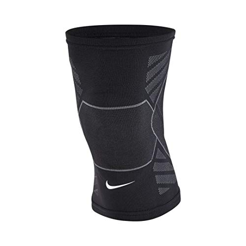 Nike Erwachsene Advantage Knitted Knee Sleeve Kniestulpe, Black/Anthracite/White, L