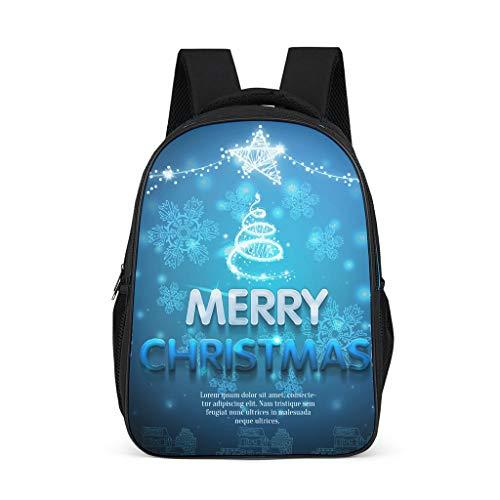NiTIAN Kerstmotief kleine kinderen schoolrugzak schooltas laptop backpack basisschool vrijetijdsrugzak functionele rugzak reisrugzak 32 x 18 x 42 centimeter polyester Vrolijk Kerstmis