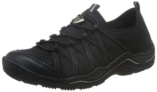 Rieker Damen L0551 Sneaker, Schwarz (Schwarz/Schwarz/Schwarz/00), 42