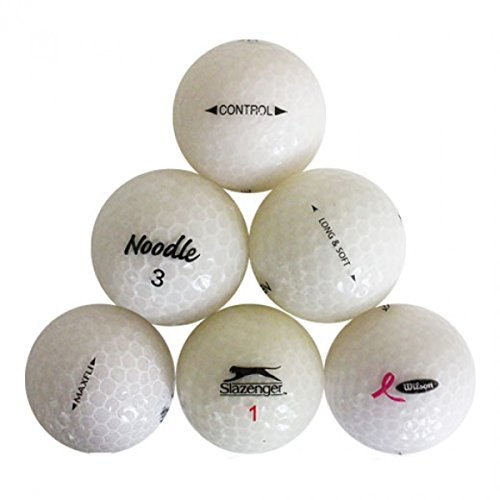 Value White Crystal Pro Brand Mix White Crystal Mix Mint Quality Golf Balls - 24 Pack