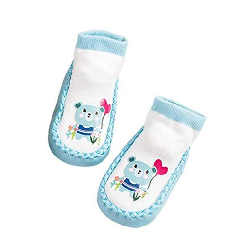 tJexePYK Infantil del niño del bebé Calcetines Animal de la Historieta de Anti Skid Antideslizante Calcetines del Piso Calcetines 14CM