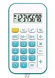 La mini calculadora portátil de 8 dígitos simplifica la calculadora básica de bolsillo, azul