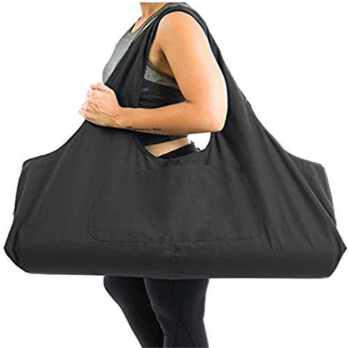 JLDUP Große Kapazität Bohemian Ethnic Style Print Canvas Yoga Tasche All-in-One Yoga Matte Tasche mit Taschen
