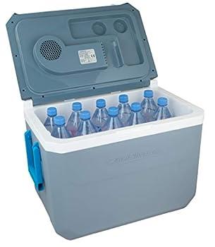 Campingaz Powerbox Plus électrique 12V et 230V, pour 10Bouteilles de 1,5 thermoélectrique, glacière pour Voiture et Camping, avec ProtectionUV, capacité de36litres Unisex-Adult, Bleu, 36 L