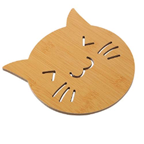 YUZZZKUNHCZ Juego de manteles individuales para CD, posavasos de madera, formas lindas, aislamiento, calor, mesa, mesa de comedor, manteles individuales (color: B)