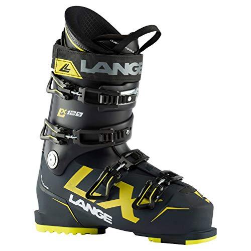 Lange RX 120 Skischuhe, Erwachsene, Unisex, Deep Blue/Yellow, 28.5 Mondopoint (cm)