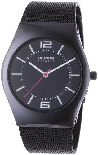 Bering Time Herren-Armbanduhr Slim Ceramic Analog Quarz 32035-642