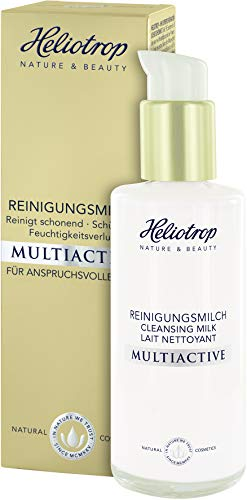 HELIOTROP Naturkosmetik MULTIACTIVE Reinigungsmilch, Bbefreit gründlich von Make-up & Verunreinigungen, Schützt vor Feuchtigkeitsverlust, Vegan, 120ml
