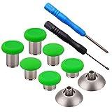 YoRHa 8 en 1 Metal magnético Thumbsticks Analog Sticks Joysticks Reparación de repuesto Kits(verde) para PS4/Slim/Pro & Xbox One/Elite/X/S Mando con Destornilladores