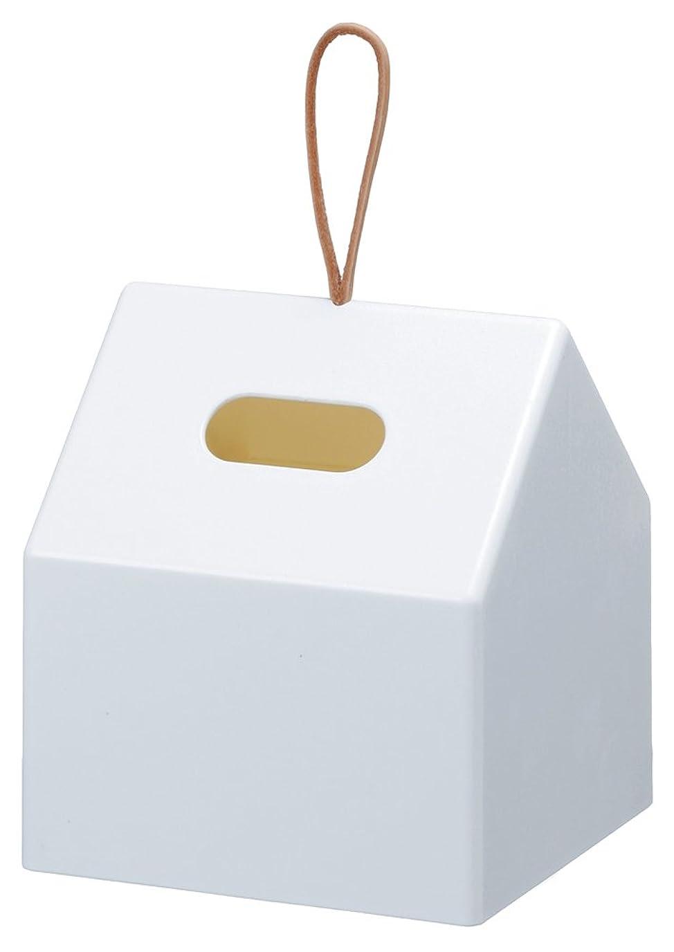 おめでとう頑固な下線吉川国工業所 ティッシュケース?ホルダー ホワイト 約W14.5×D14×H16.5cm