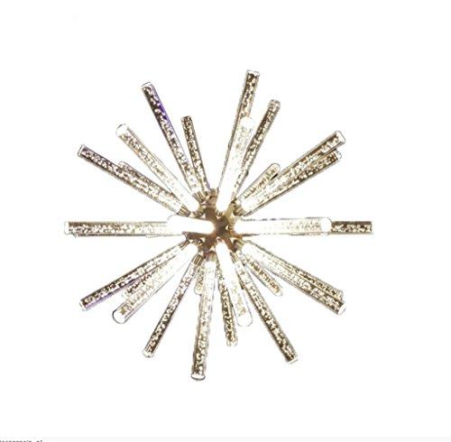 WENMW Modern minimalistisch kristallen glazen kroonluchter restaurant geleid creatieve blaaszuilen glazen lampjes voor woonkamer, slaapkamer, eetkamer, binnengebruik