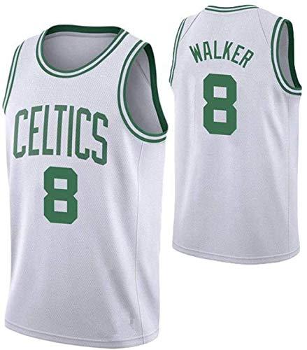 TPPHD Jerseys de Baloncesto de los Hombres, NBA Boston Celtics # 8 Kemba Walker Classic Swingman Jersey, Tejido Fresco de la Vendimia Tela Transpirable All-Star Uniforme Uniforme,2,XXL
